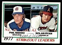 Strikeout Leaders (Phil Niekro, Nolan Ryan) [EX]