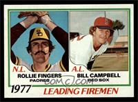 Rollie Fingers, Bill Campbell [NM MT]