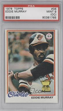 1978 Topps - [Base] #36 - Eddie Murray [PSA9(OC)]