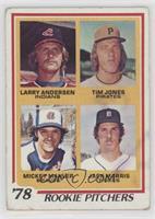 '78 Rookie Pitchers (Larry Andersen, Tim Jones, Mickey Mahler, Jack Morris) [Po…