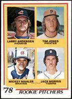 '78 Rookie Pitchers (Larry Andersen, Tim Jones, Mickey Mahler, Jack Morris) [EX…