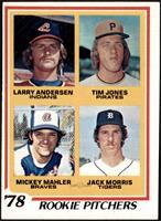 '78 Rookie Pitchers (Larry Andersen, Tim Jones, Mickey Mahler, Jack Morris) [VG…
