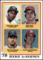 Rookie 1st Basemen (Wayne Cage, Ted Cox, Pat Putnam, Dave Revering) [VG]