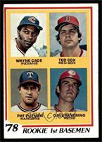 Rookie 1st Basemen (Wayne Cage, Ted Cox, Pat Putnam, Dave Revering) [VGEX]