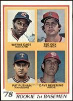 Rookie 1st Basemen (Wayne Cage, Ted Cox, Pat Putnam, Dave Revering) [EXMT]