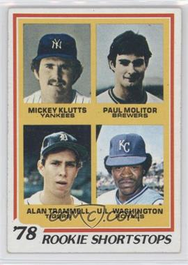 1978 Topps - [Base] #707 - Rookie Shortstops (Paul Molitor, Alan Trammell, Mickey Kluts, U.L. Washington)