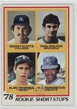 1978 Topps - [Base] #707 - Rookie Shortstops (Paul Molitor, Alan Trammell, Mickey Kluts, U.L. Washington) [GoodtoVG‑EX]