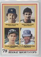 Rookie Shortstops (Paul Molitor, Alan Trammell, Mickey Klutts, U.L. Washington)