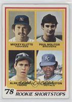 Rookie Shortstops (Paul Molitor, Alan Trammell, Mickey Klutts, U.L. Washington)…