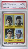 Rookie Shortstops (Paul Molitor, Alan Trammell, Mickey Klutts, U.L. Washington)…