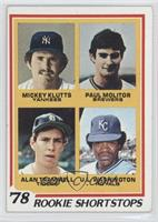 Rookie Shortstops (Paul Molitor, Alan Trammell, Mickey Klutts, U.L. Washington)