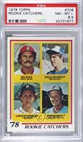 Bo Diaz, Dale Murphy, Lance Parrish, Ernie Whitt [PSA8.5NM‑MT…