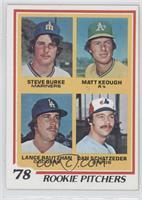 Matt Keough, Lance Rautzhan, Dan Schatzeder, Steve Burke