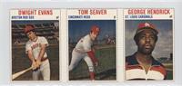 Dwight Evans, Tom Seaver, George Hendrick