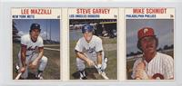 Lee Mazzilli, Steve Garvey, Mike Schmidt