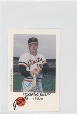 1979 KNBR San Francisco Giants San Francisco Police - [Base] #15 - Mike Ivie