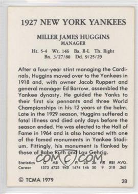 1979 TCMA 1927 New York Yankees #28 - Miller Huggins - Courtesy of COMC.com