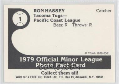 1979 TCMA Minor League #361 - Ron Hassey - Courtesy of COMC.com