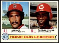Home Run Leaders (Jim Rice, George Foster) [NM]