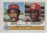 Home Run Leaders (Jim Rice, George Foster)