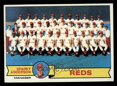 1979 Topps Base 259 Cincinnati Reds Team Checklist