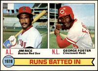 Jim Rice, George Foster (Runs Batted In Leaders) [NM MT]