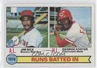 Jim Rice, George Foster (Runs Batted In Leaders)