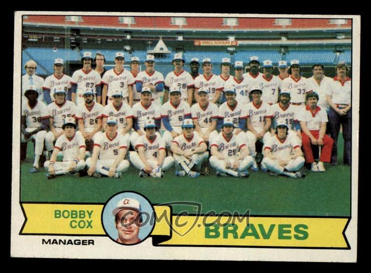 1979 Topps Base 302 Atlanta Braves Team Checklist