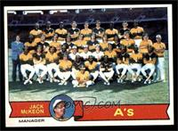 Oakland Athletics Team, Jack McKeon [EX MT]