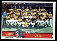 Oakland Athletics Team, Jack McKeon [VG]