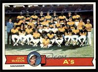 Oakland Athletics Team, Jack McKeon [EX]