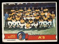 Oakland Athletics Team, Jack McKeon [POOR]