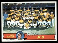 Oakland Athletics Team, Jack McKeon [EXMT]