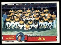 Oakland Athletics Team, Jack McKeon [VG EX]
