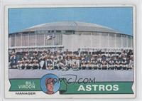 Houston Astros Team Checklist (Bill Virdon) [GoodtoVG‑EX]