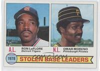 Stolen Base Leaders (Ron LeFlore, Omar Moreno)