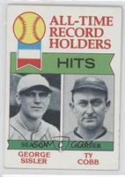 All-Time Record Holder Hits(George Sisler, Ty Cobb0 [Good to VG&#8209…