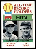 All-Time Record Holder Hits(George Sisler, Ty Cobb0 [EX]