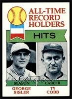 All-Time Record Holders - Hits - George Sisler, Ty Cobb [NM]