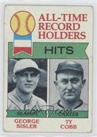 All-Time Record Holders - Hits - George Sisler, Ty Cobb [Poor to Fair]