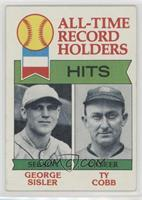 All-Time Record Holders - Hits - George Sisler, Ty Cobb [Good to VG&#…
