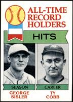 All-Time Record Holders - Hits - George Sisler, Ty Cobb [NM MT]