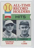 All-Time Record Holders - Hits - George Sisler, Ty Cobb