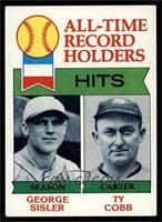All-Time Record Holders - Hits - George Sisler, Ty Cobb [EX]