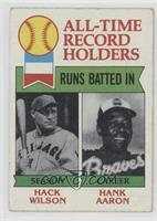 All-Time Record Holders - Runs Batted In - Hank Aaron, Hack Wilson [Poor t…