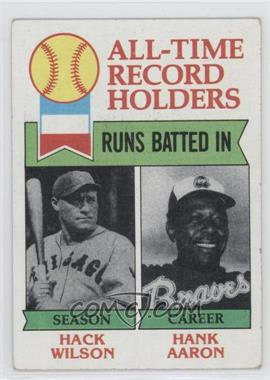1979 Topps - [Base] #412 - All-Time Record Holders - Runs Batted In - Hank Aaron, Hack Wilson [Good to VG‑EX]
