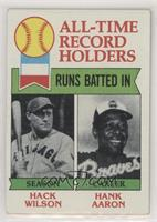 All-Time Record Holders - Runs Batted In - Hank Aaron, Hack Wilson [Good t…