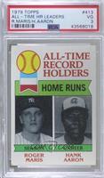 All-Time Record Holders - Home Runs - Hank Aaron, Roger Maris [PSA3…