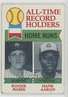 All-Time Record Holders - Home Runs - Hank Aaron, Roger Maris [Poorto&nbs…