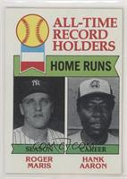 All-Time Record Holders - Home Runs - Hank Aaron, Roger Maris